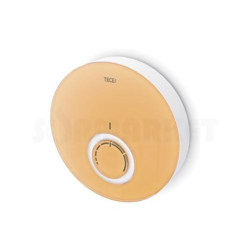 Панель дизайнерская для комнатного термостата DT стекло оранжевое корпус белый TECE