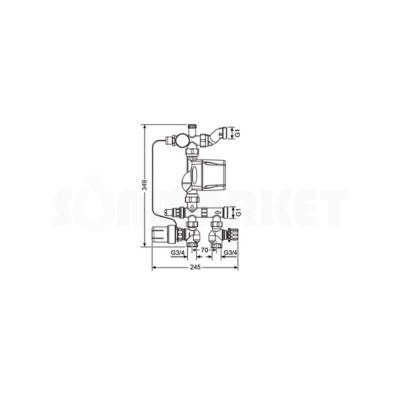 Насосно-смесительный узел для поверхностного отопления 20-55С TECEfloor