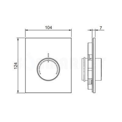 Лицевая панель для узла регулировки отопления RTL box стекло чёрное TECEfloor