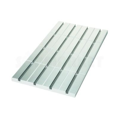 Панель для системы тёплого пола с алюминиевым покрытием и каналом 16мм для укладки труб с шагом укладки 125мм 30 х 500 х 1000мм TECEfloor