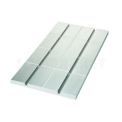 Панель для системы тёплого пола с алюминиевым покрытием и каналом 16мм для укладки труб с шагом укладки 250мм 30 х 500 х 1000мм TECEfloor
