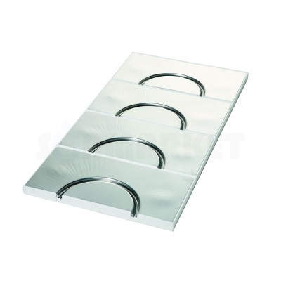 Панель для системы тёплого пола с алюминиевым покрытием и радиусным каналом 16мм для укладки труб с шагом укладки 250мм 30 х 500 х 1000мм TECEfloor