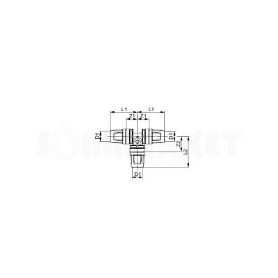 Тройник 90° для Push-fit равнопроходной PPSU Дн 16 х 16 х 16 TECElogo