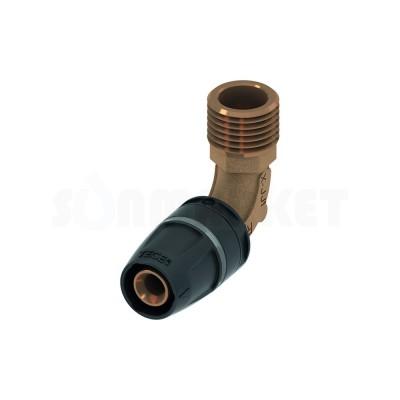 """Уголок 90° для Push-fit с наружной резьбой бронза Дн 25 х Rp 3/4"""" TECElogo"""