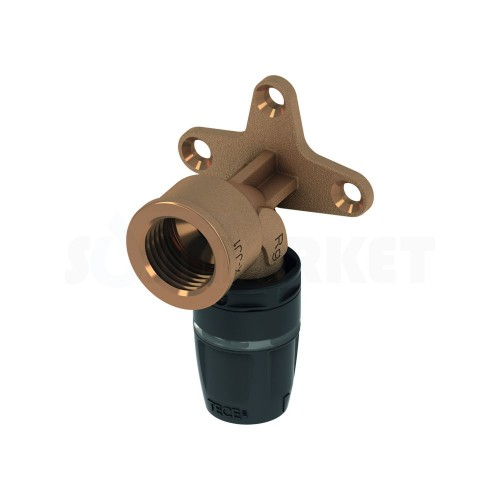 "Водорозетка для Push-fit одиночная с внутренней резьбой бронза Дн 20 х Rp 1/2"" TECElogo"