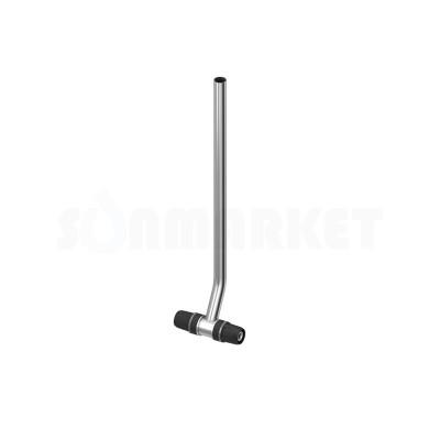 Тройник для Push-fit с никелированной трубкой для подключения радиатора Дн 20 х 15мм х Дн 20 L 300мм TECElogo
