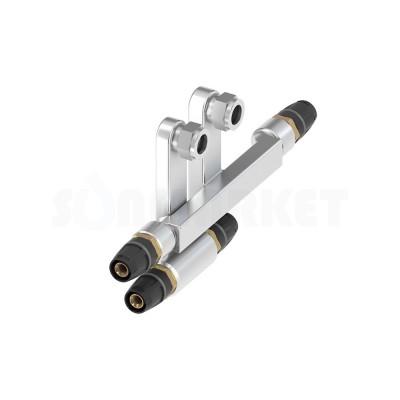 Узел присоединительный двойной конечный Push-fit для плинтусной разводки Заглушка х 15мм х 16 TECElogo