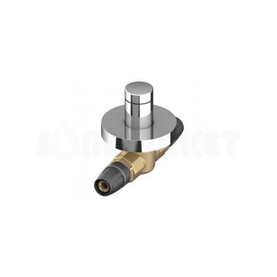 Кран шаровой проходной Push-fit латунь с декоративной рукояткой округлой Дн 20 х 20 TECElogo