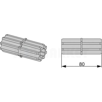 Торцевое соединение профиля каркасной системы TECEprofil
