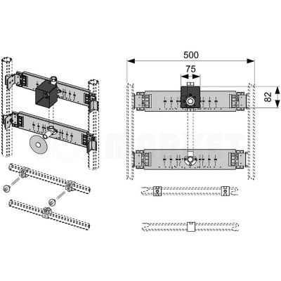 Комплект для установки писсуара в каркасную систему TECEprofil