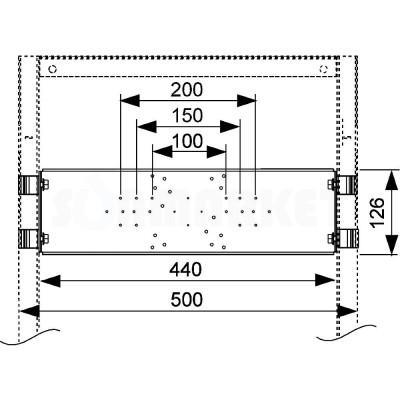 Монтажная пластина для сантехнической арматуры тип 2 TECEprofil