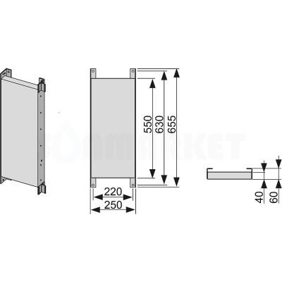 Панель стеновая для каркасной системы TECEprofil