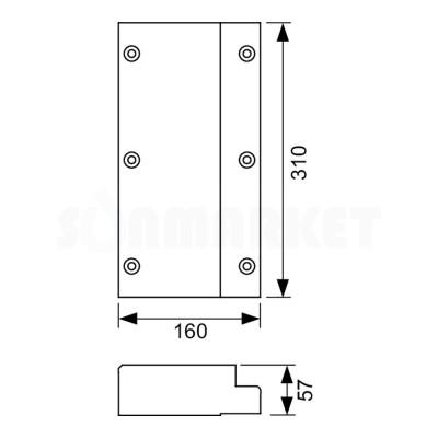 Комплект деревянных пластин для крепления поручней безопасности TECEprofil