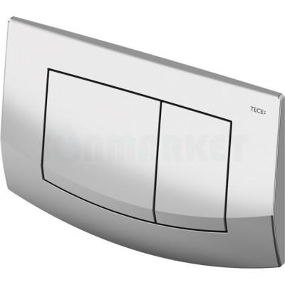Кнопка смыва для инсталляции с двумя клавишами TECEambia, хром глянцевый