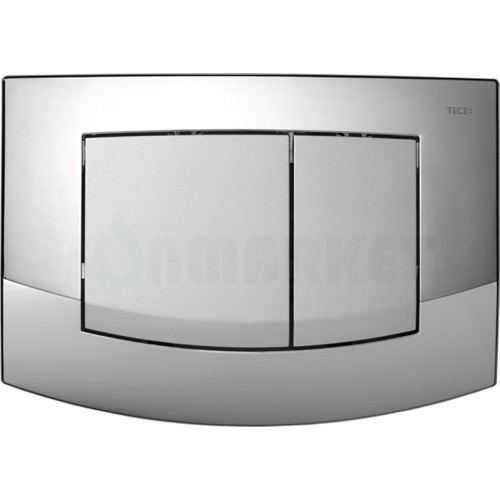 Кнопка смыва для инсталляции с двумя клавишами TECEambia, хром глянцевый, клавиши хром матовый