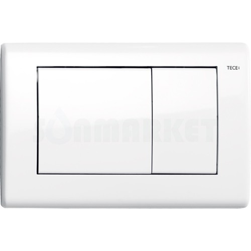 Кнопка смыва для инсталляции с двумя клавишами TECEplanus, белая глянцевый