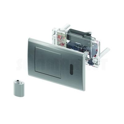 Панель смыва для инсталляции с инфракрасным датчиком питание от батареи 6В нержавеющая сталь сатин TECEplanus