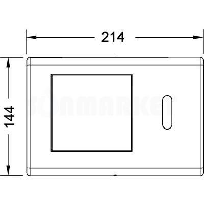 Панель смыва для инсталляции с инфракрасным датчиком питание от батареи 6В хром глянцевый TECEplanus
