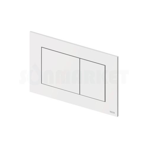 Кнопка смыва для инсталляции с двумя клавишами TECEnow, белая, антибактериальное покрытие