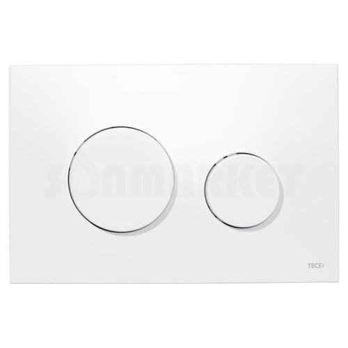 Кнопка смыва для инсталляции с двумя клавишами TECEloop, пластиковая, белая