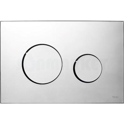 Кнопка смыва для инсталляции с двумя клавишами TECEloop, пластиковая, хром глянцевый