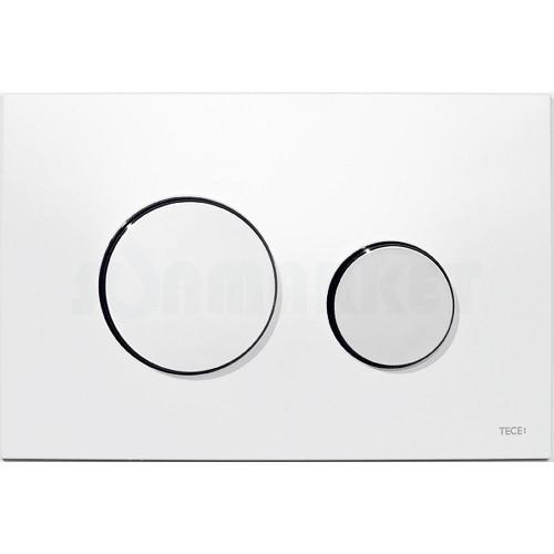 Кнопка смыва для инсталляции с двумя клавишами TECEloop, пластиковая, белая, клавиши хром глянцевый
