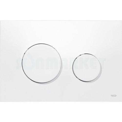 Кнопка смыва для инсталляции с двумя клавишами TECEloop, пластиковая, белая, антибактериальная