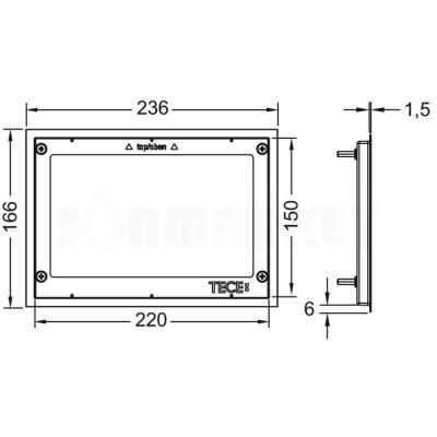 Металлическая декоративная рамка для кнопки инсталляции матовая TECEprofil
