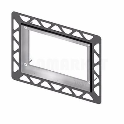 Монтажная рамка для установки стеклянных панелей TECEloop или TECEsquare на уровне стены металлическая