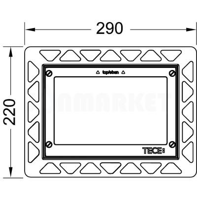 Монтажная рамка для установки стеклянных панелей TECEloop или TECEsquare на уровне стены белая