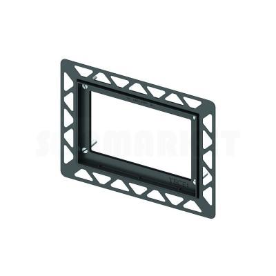 Монтажная рамка для установки стеклянных панелей TECEloop или TECEsquare на уровне стены чёрный