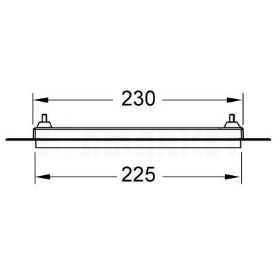 Монтажная рамка для установки стеклянных панелей TECEloop или TECEsquare на уровне стены позолоченный