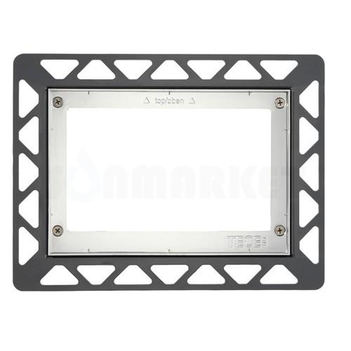 Монтажная рамка для установки стеклянных панелей TECEloop или TECEsquare на уровне стены хром глянцевый
