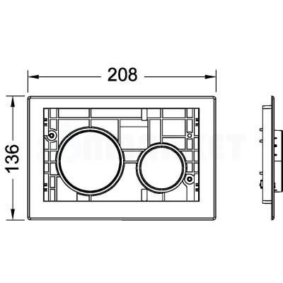 Кнопка смыва для инсталляции модульная хром матовый TECEloop