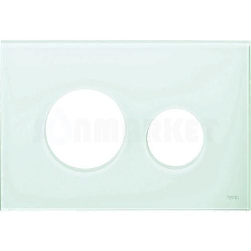 Лицевая панель кнопки инсталляции TECEloop modular стекло, светло-зеленый