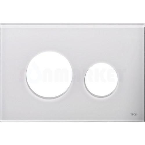 Лицевая панель кнопки инсталляции TECEloop modular стекло, белая Emco