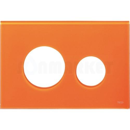 Лицевая панель кнопки инсталляции TECEloop modular стекло, оранжевый