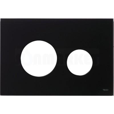 Лицевая панель кнопки инсталляции TECEloop modular стекло, чёрный Alape и Emco