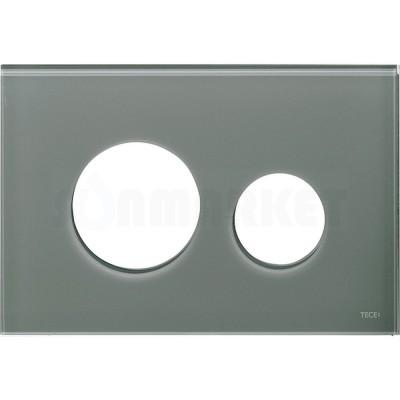 Лицевая панель кнопки инсталляции TECEloop modular стекло, серо-голубой