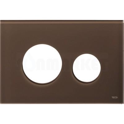 Лицевая панель кнопки инсталляции TECEloop modular стекло, кофейный