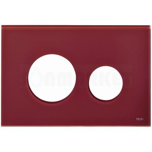 Лицевая панель кнопки инсталляции TECEloop modular стекло, рубиновый Alape