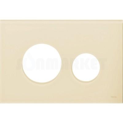 Лицевая панель кнопки инсталляции TECEloop modular стекло, слоновая кость Alape