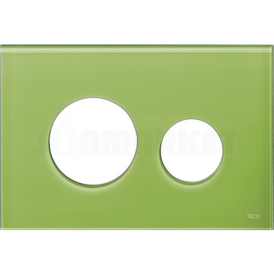 Лицевая панель кнопки инсталляции TECEloop modular стекло, зеленый Burgbad