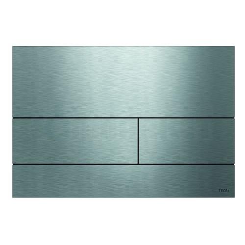 Кнопка смыва для инсталляции с двумя клавишами TECEsquare II, металлическая, нержавеющая сталь, сатин (против отпечатков пальцев)