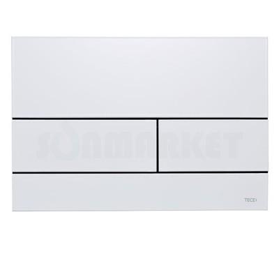 Кнопка смыва для инсталляции с двумя клавишами TECEsquare II, металлическая, белая