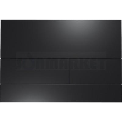 Кнопка смыва для инсталляции с двумя клавишами TECEsquare II, металлическая, чёрный, матовая
