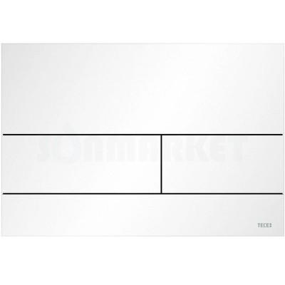 Кнопка смыва для инсталляции с двумя клавишами TECEsquare II, металлическая, белая матовый