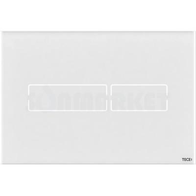 Кнопка смыва для инсталляции сенсорная TECElux mini, стеклянная, сенсорная, белая