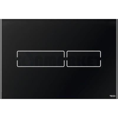 Кнопка смыва для инсталляции сенсорная TECElux mini, стеклянная, сенсорная, чёрный