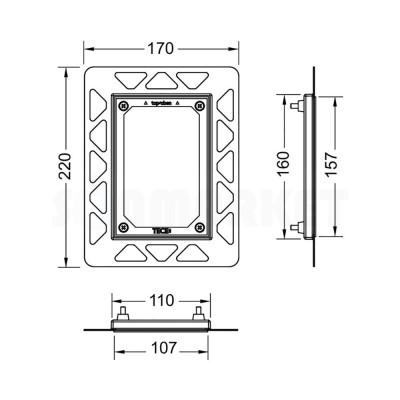 Монтажная рамка для монтажа на уровне стены хром глянцевый TECEfilo